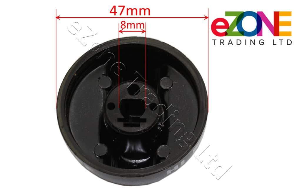 Universal Control Knob for Griddles & Grills 8mm Shaft Heavy Duty Construction
