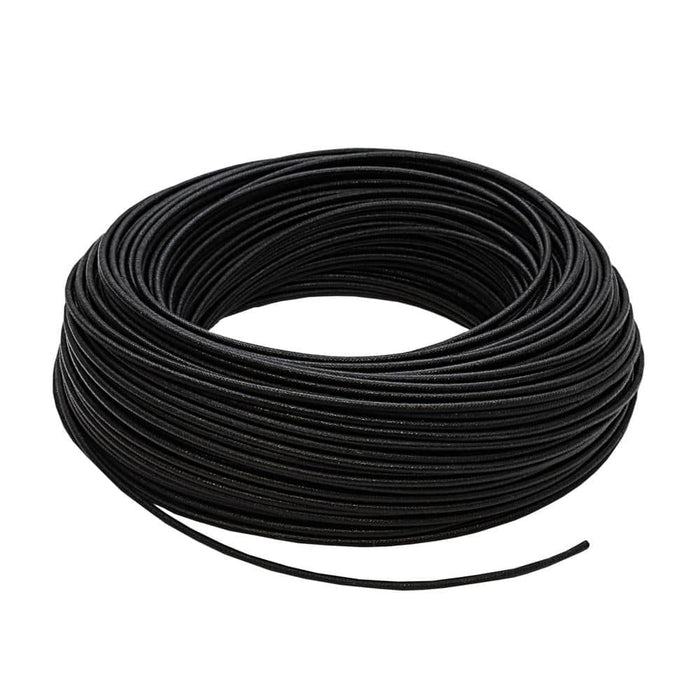 High Temperature Wire 200° Heat Resistant Glass Fibre Cable 100meter Black 1.5mm