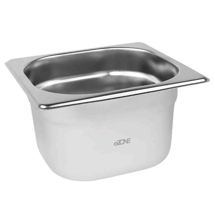 Gastronorm 1/6 Sixth Stainless Steel Bain Marie Food Container Pot Pan 100mm