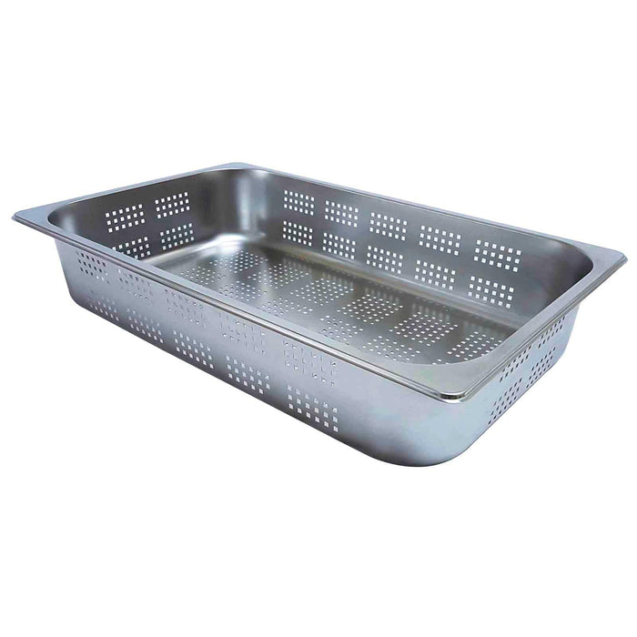 Perforated Gastronorm 1/1 100mm Pan Stainless Steel Combi Oven Steamer Tray Bain Marie