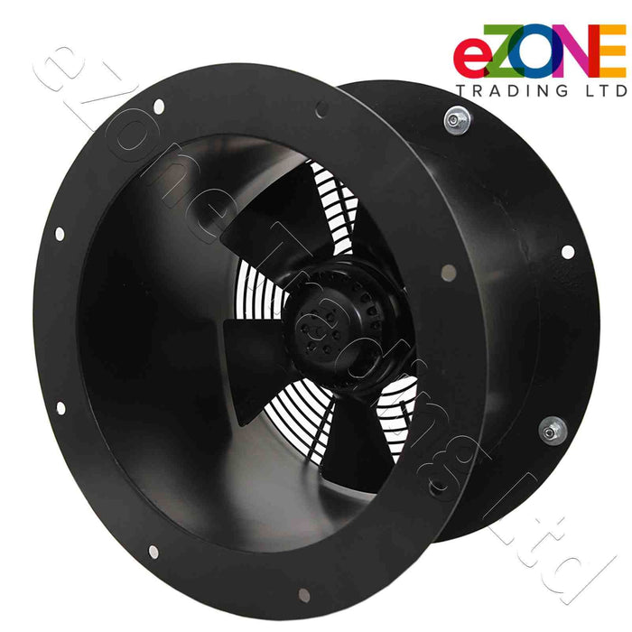 400mm Industrial Duct Fan Cased Axial Commercial Kitchen Canopy Extractor