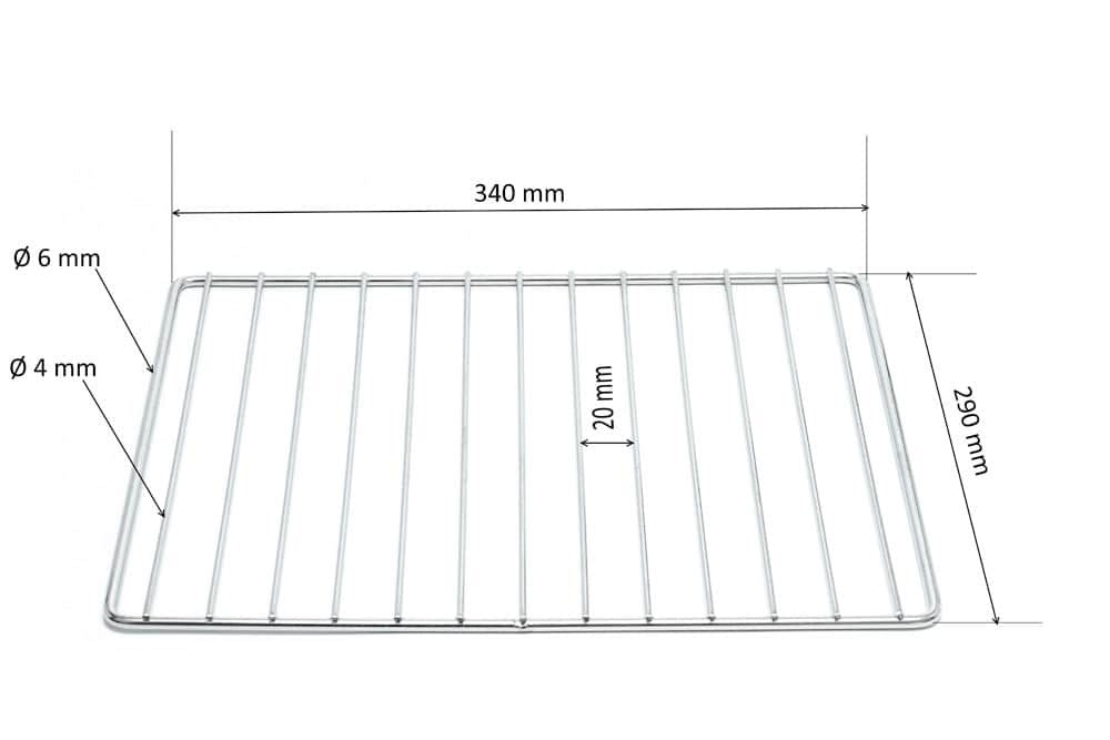 Basket Tank Support Rack for FRYMASTER Fryer 340X 290 mm Stainless Steel