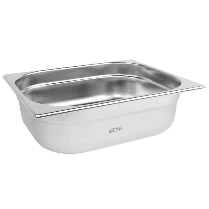Gastronorm 1/2 Half Stainless Steel Bain Marie Food Container Pot Pan 100mm