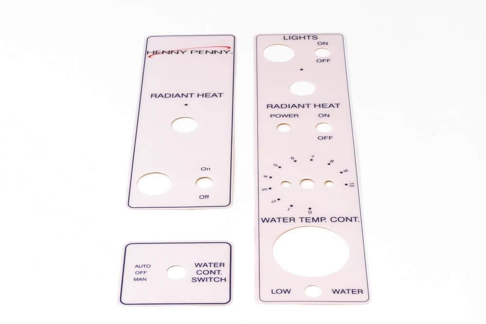 HENNY PENNY HCW Chicken Warmer Display Spare Sticker Decal Label Set (3 Pieces)