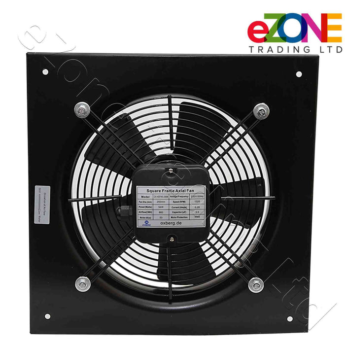 Industrial metal ventilation fan. Quiet model. 200mm Blade size in our Catering supplies collection