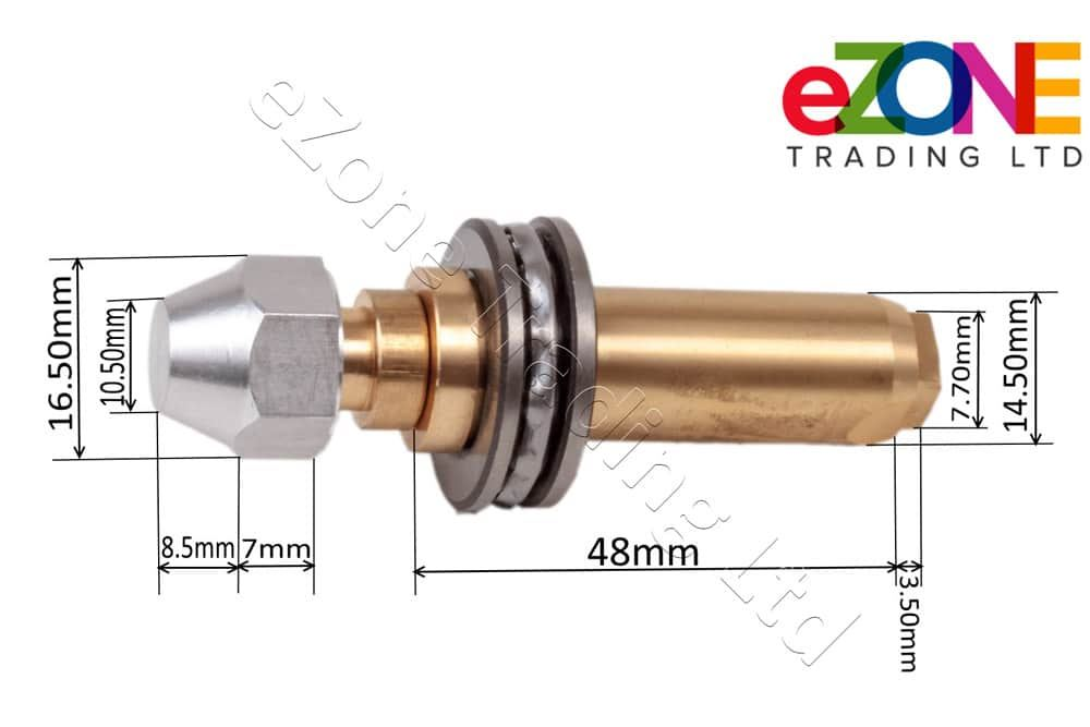 Centre Spindle Shaft With Bearing For KUROMA Model DF Counter Top Pressure Fryer