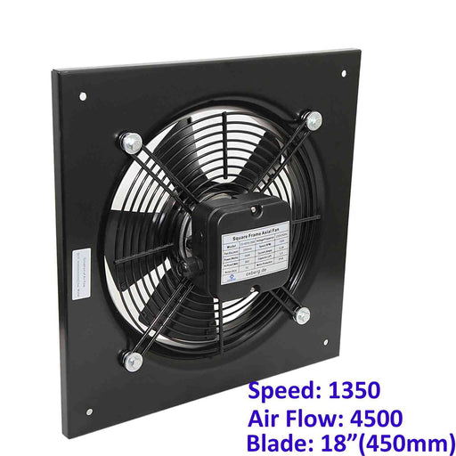 Metal air extractor exhaust fan. 450mm Blade size in our Catering equipment collection