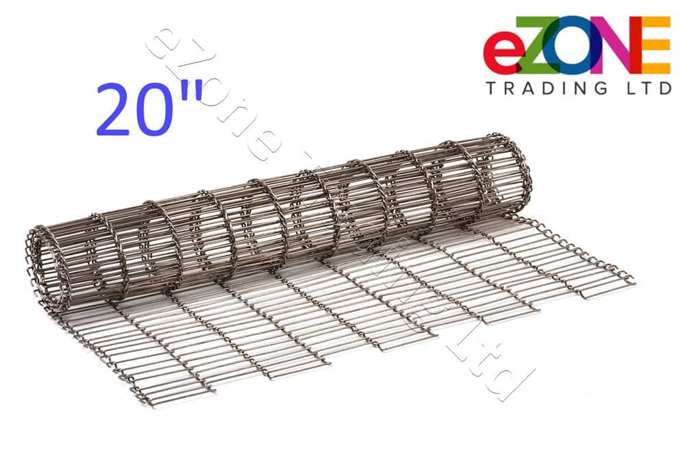 "Pizza Oven Conveyor Belt Chain 20"" ZANOLLI Synthesis 08/50 Wire Mesh - Length 1m"