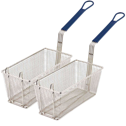 2 Commercial deep fat frying baskets for takeaways and restaurants, 340x165x150mm, in our catering equipment department