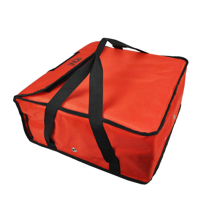 "Heavy Duty Pizza Delivery Bag 4x16"" Box Fully Insulated Waterproof Takeaway RED"
