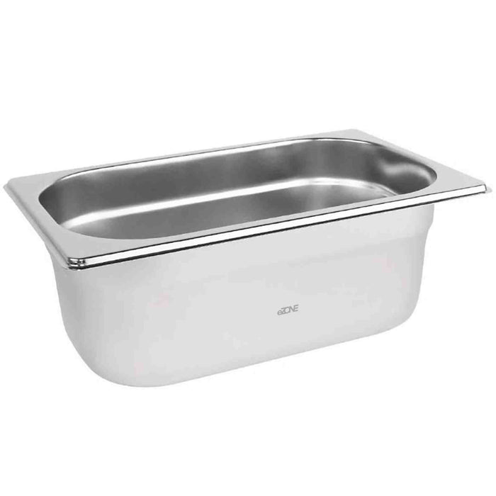 Gastronorm 1/4 Quarter Stainless Steel Bain Marie Food Container Pot Pan 100mm