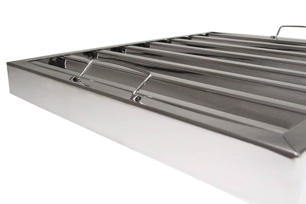 Stainless steel Canopy Extraction Baffle Grease Filter, Kitchen Extraction Hood 395x495mm