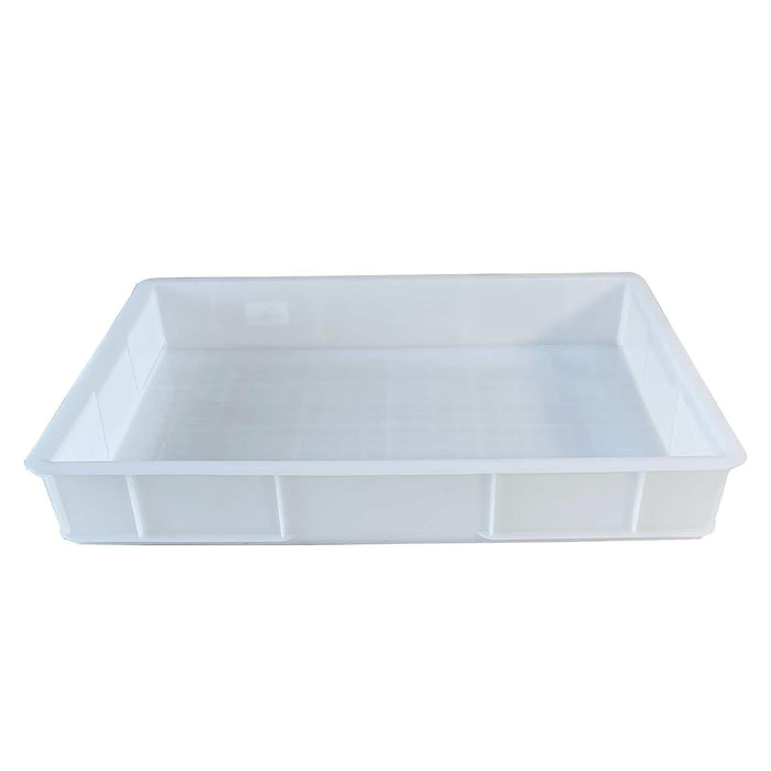 Pizza Dough Tray 615x420x95mm Bakery Dough Storage Proofing Box White Stackable