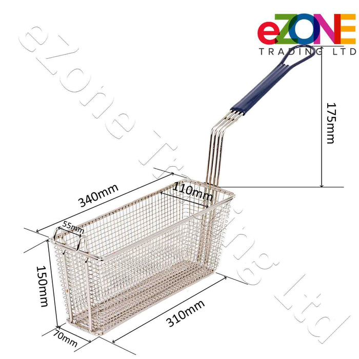 Frying Basket for LINCAT BA122 OPUS 700 Electric Chip Fish Fryer ½ Size Basket