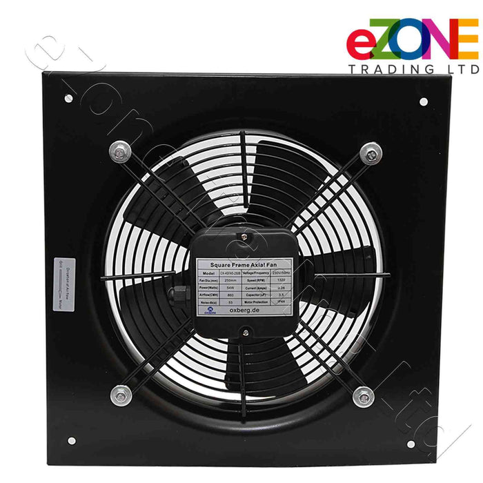 Industrial metal ventilation fan. 250mm Blade size in our Catering supplies collection