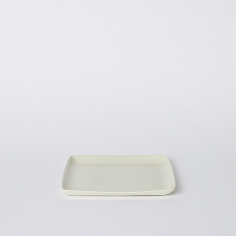 Square Medium Platter in Milk