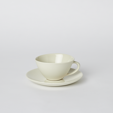 Teacup and Saucer in Milk