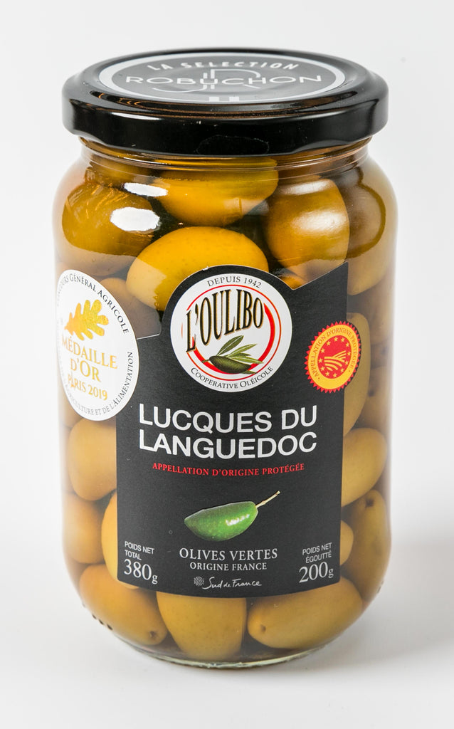 Lucques green olives 200g - L'oulibo (Languedoc-Roussillon, France)