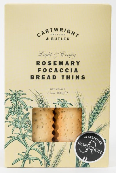 Rosemary Focaccia bread thins - Cartwright & Butler