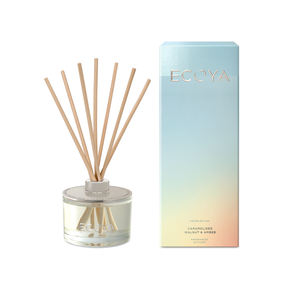 Ecoya Reed Diffuser - Caramelised Walnut + Amber