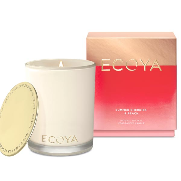 Ecoya - Madison Candle - Summer Cherries + Peach