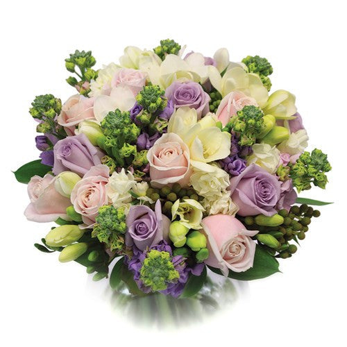 Pastel bouquet with roses