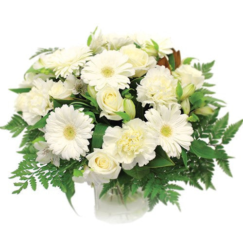 White Rose and Gerbera Bouquet