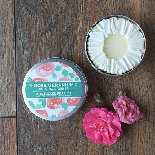 Rose Geranium Natural Solid Body Moisturiser 50g