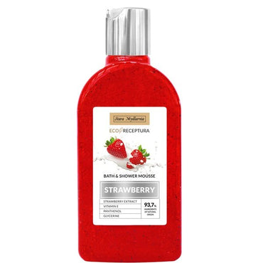 strawberry bath shower mousse