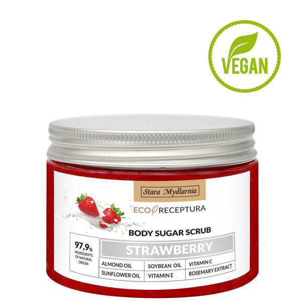 strawberry body sugar scrub