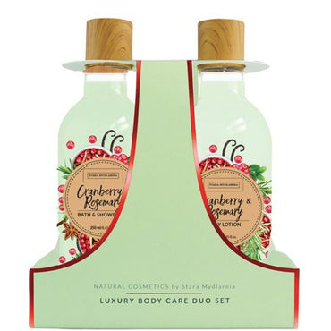 Duo set Cranberry & Rosemary - shower gel + body lotion - SCENTA