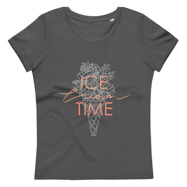 Women's fitted eco tee Ice Cream Time