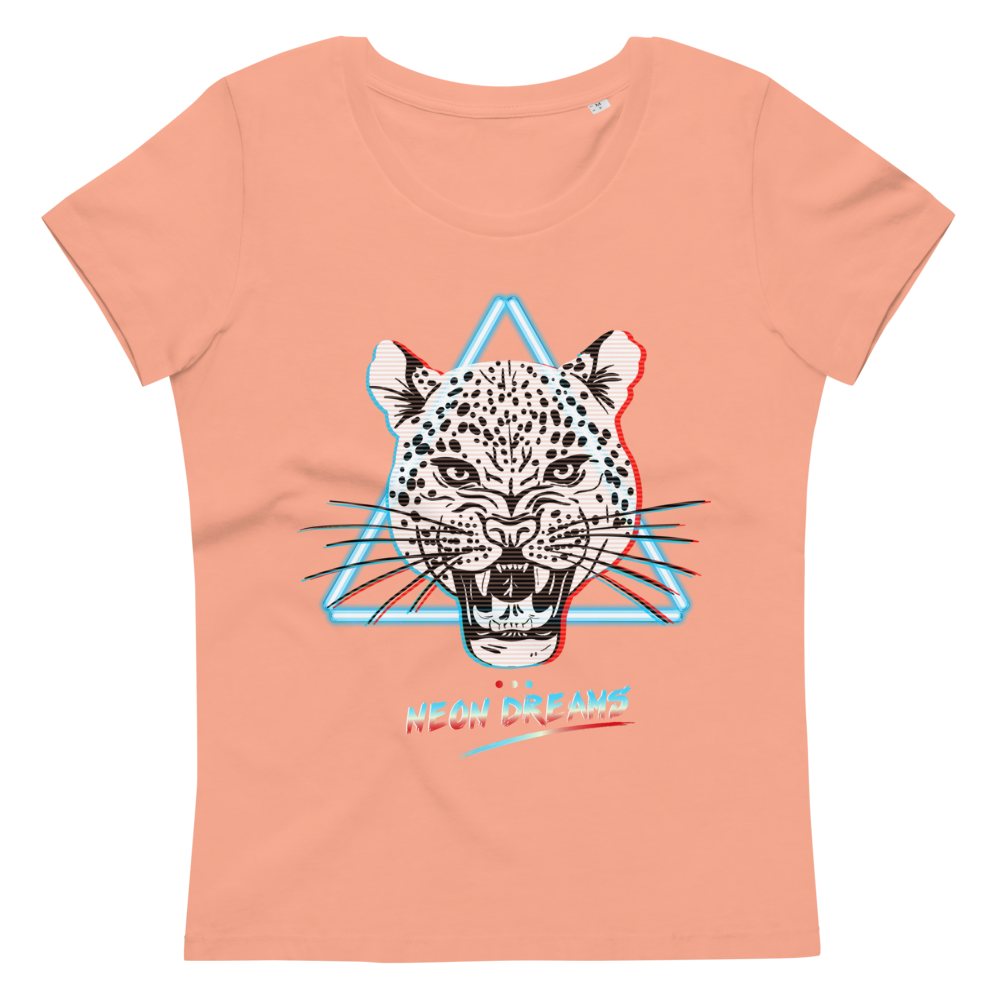 Women's fitted eco tee Retro Wave Leopard