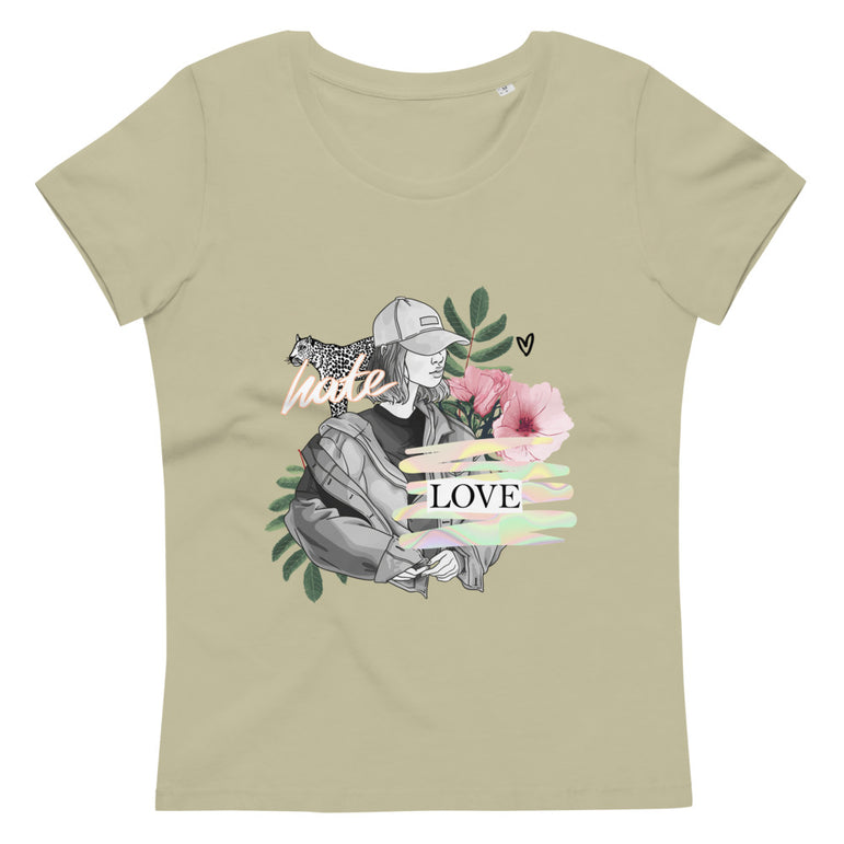 Women's fitted eco tee Love Hate