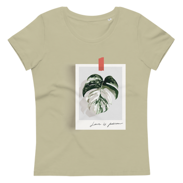 Women's fitted eco tee Love is poison