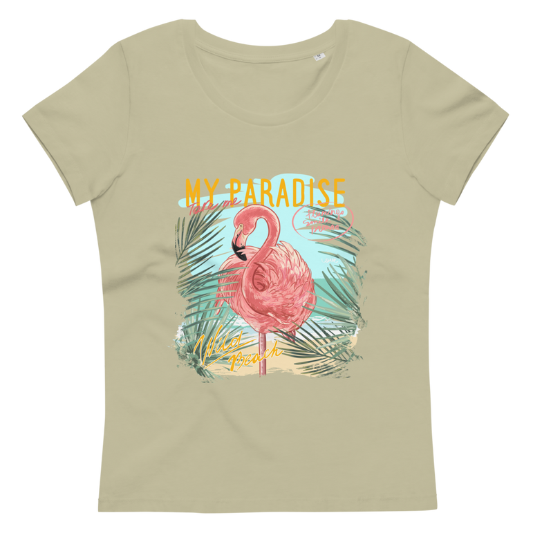 Women's fitted eco tee My paradise