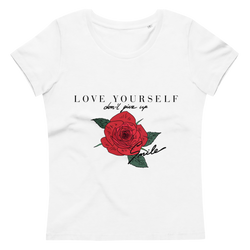 Women's fitted eco tee Love Yourself
