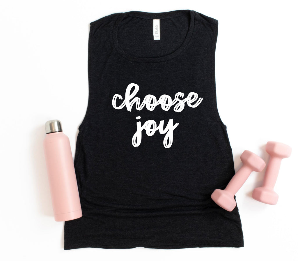 Choose Joy Muscle Tank Printify