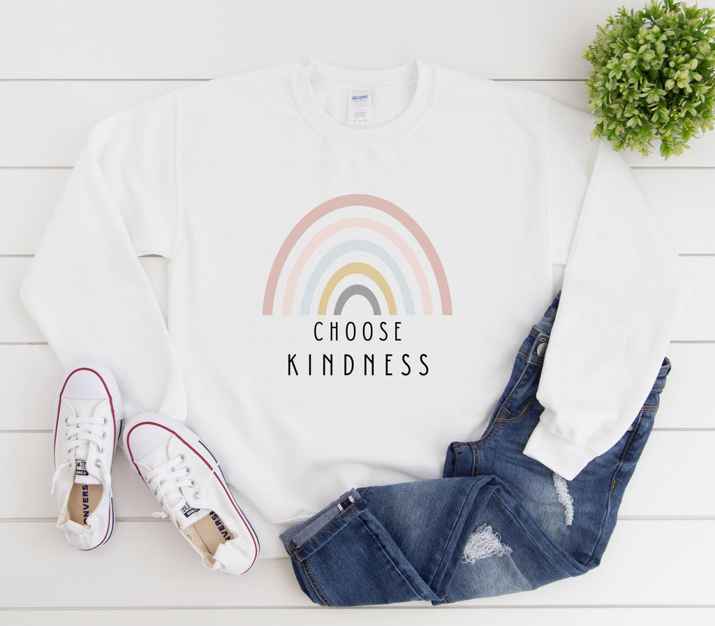Choose Kindness Crewneck Sweatshirt Printify