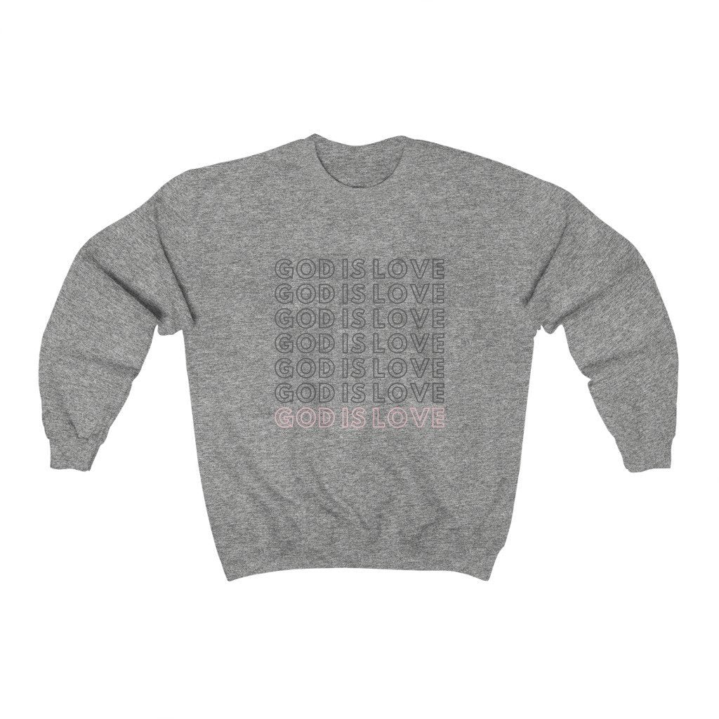 God is LOVE Crewneck Sweatshirt Printify