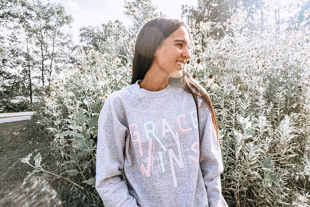 Grace Wins Crewneck Sweatshirt Printify