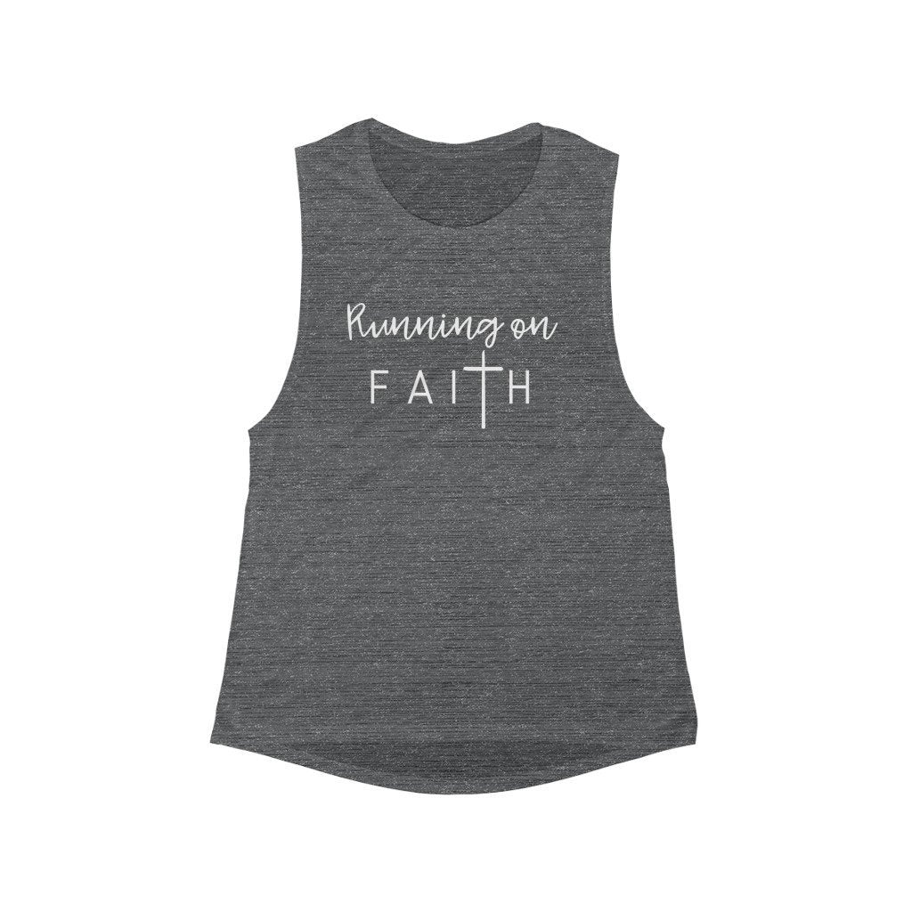 Running on Faith Muscle Tank Printify