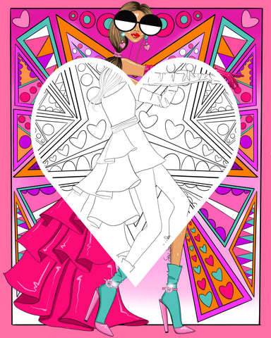 Sew Sketchy coloring pages high fashion coloring book for adults women