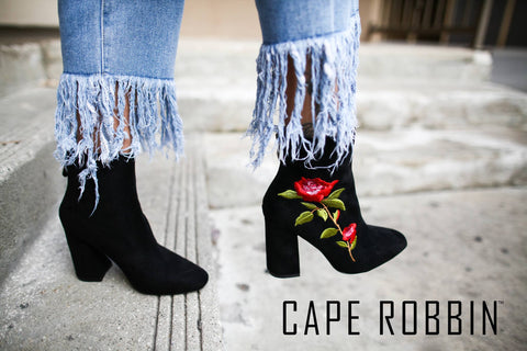 Cape Robbin Floral Ankle Booties