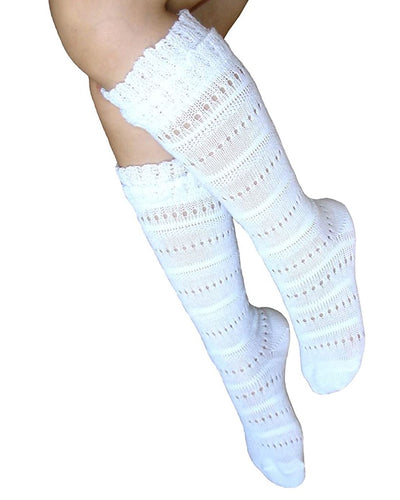 School girls knee high socks with flat toe seam - Mr. Poco