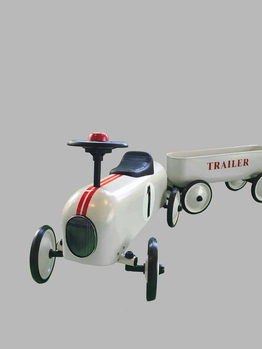 Little Metal Racer with Litter Trailer - Mr. Poco