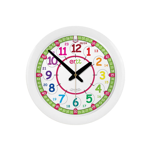 EasyRead 29cm Wall Clock - 12/24 hr - Mr. Poco