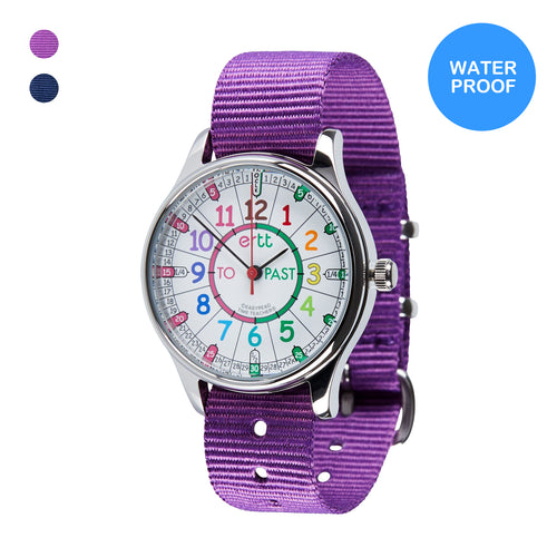 Waterproof EasyRead Watches (Past & To) -  Rainbow Face - Mr. Poco