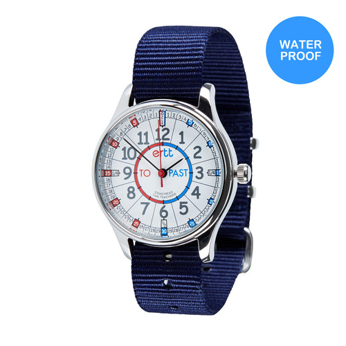 Waterproof EasyRead Watches (Past & To) - Red & Blue Face - Mr. Poco