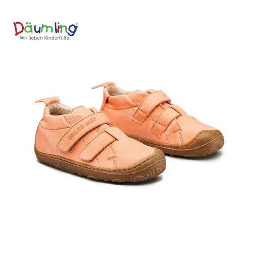 Däumling First Walker Shoes - Waxy  Lachs (Coral) - Mr. Poco